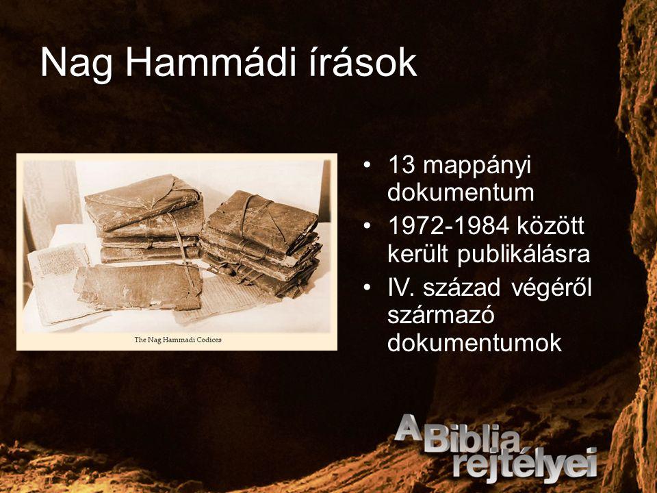 Nag Hammádi írások 13 mappányi dokumentum