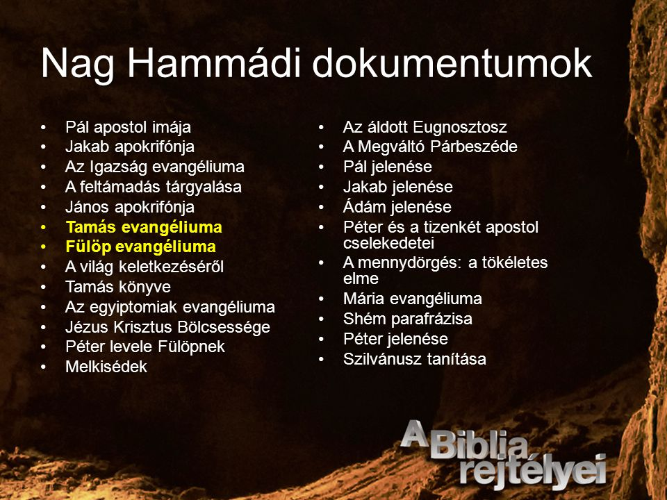 Nag Hammádi dokumentumok