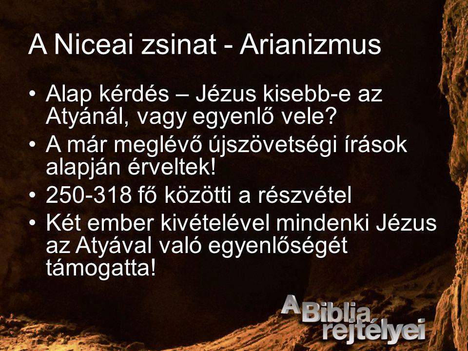 A Niceai zsinat - Arianizmus