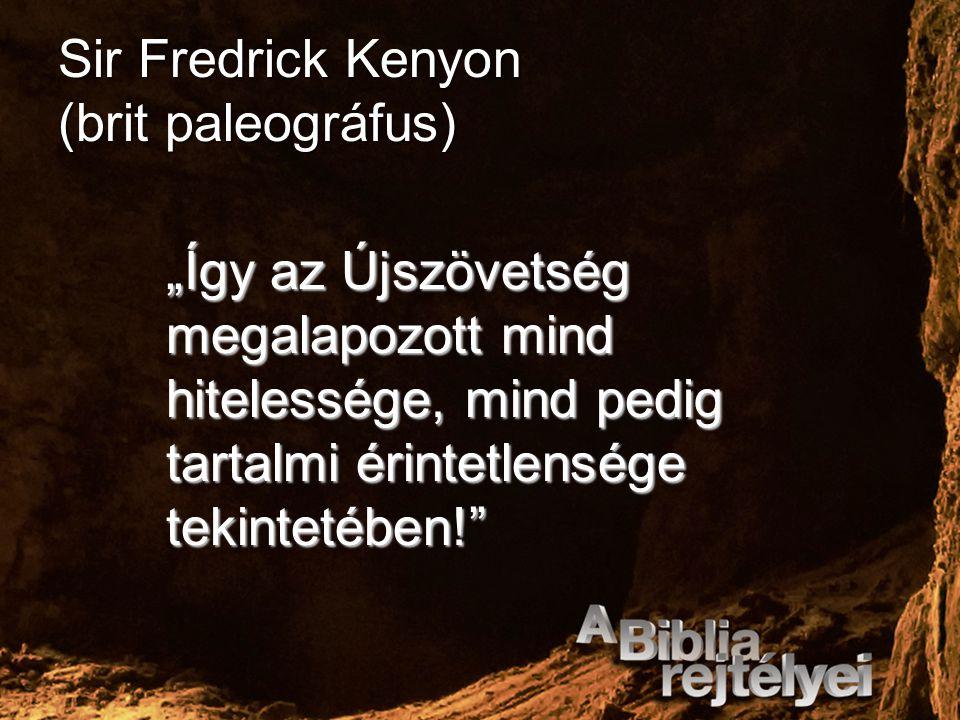 Sir Fredrick Kenyon (brit paleográfus)