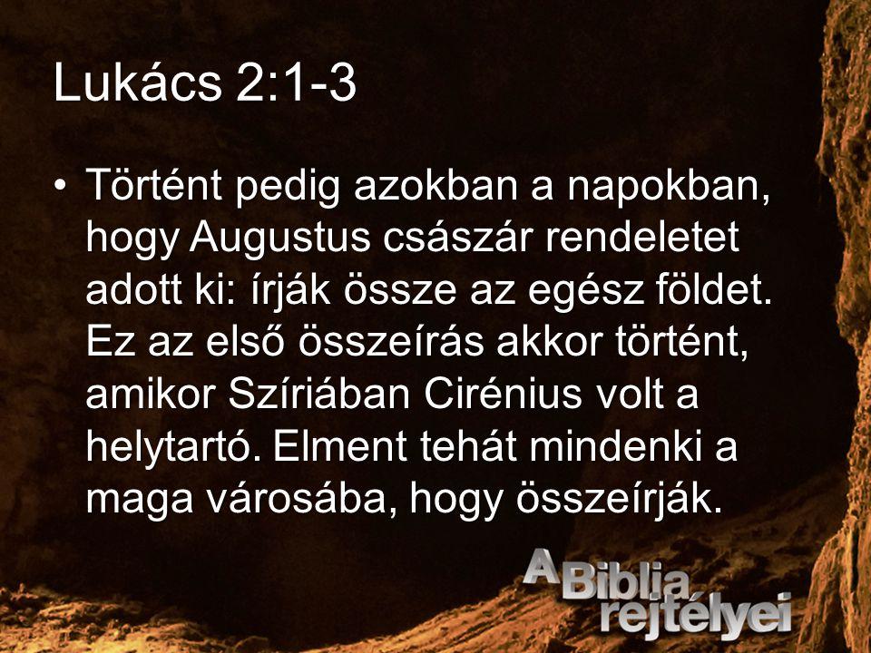 Lukács 2:1-3