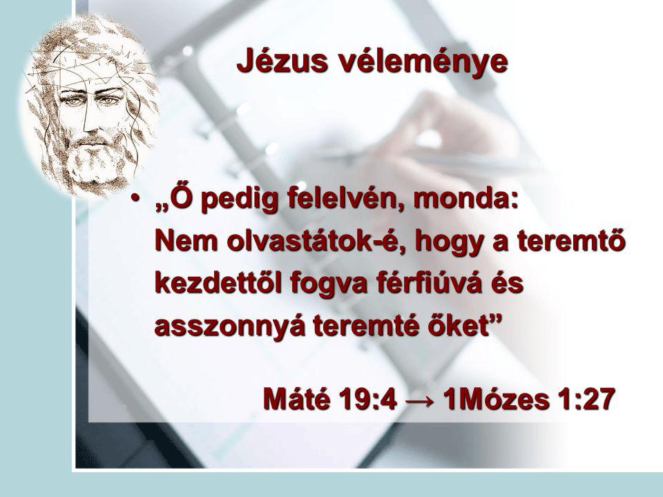 """Jézus véleménye """"Ő pedig felelvén, monda:"""
