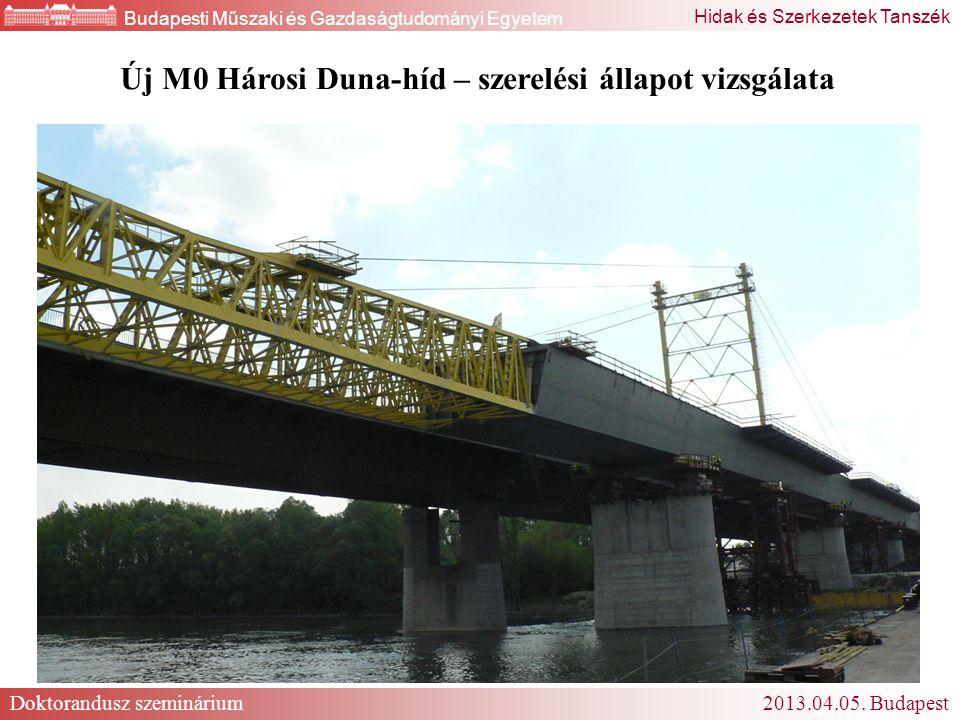 Új M0 Hárosi Duna-híd – szerelési állapot vizsgálata