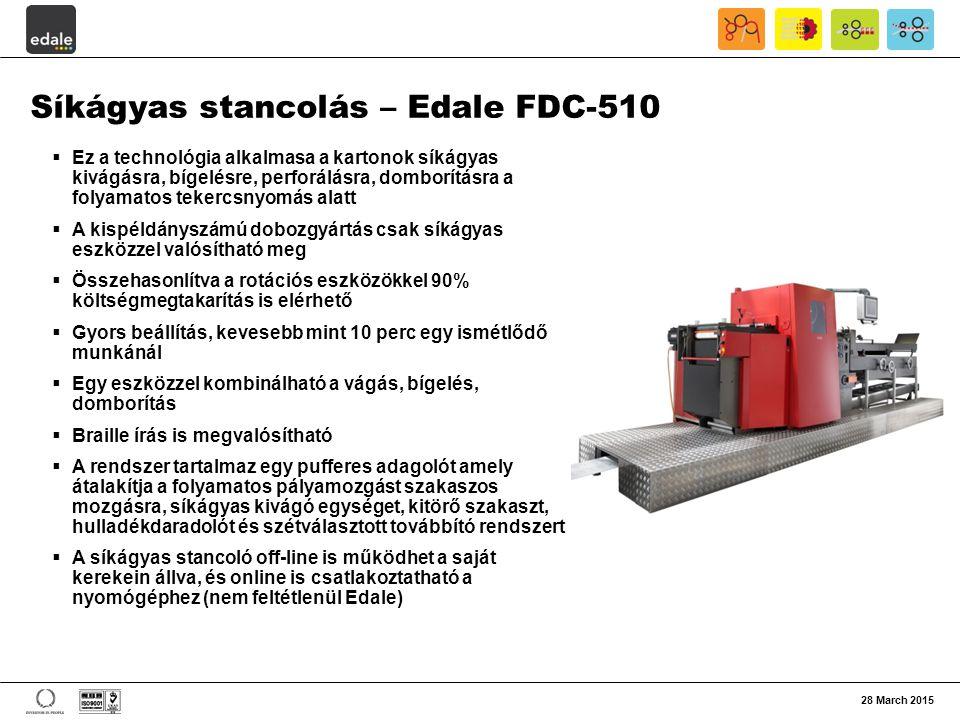 Síkágyas stancolás – Edale FDC-510