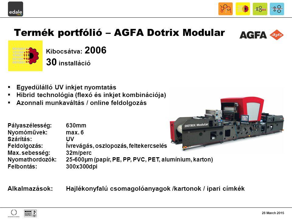 Termék portfólió – AGFA Dotrix Modular