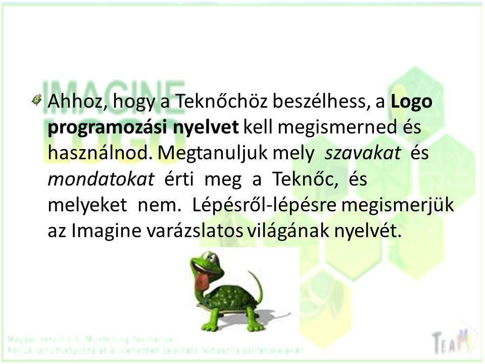 Ahhoz, hogy a Teknőchöz beszélhess, a Logo programozási nyelvet kell megismerned és használnod.