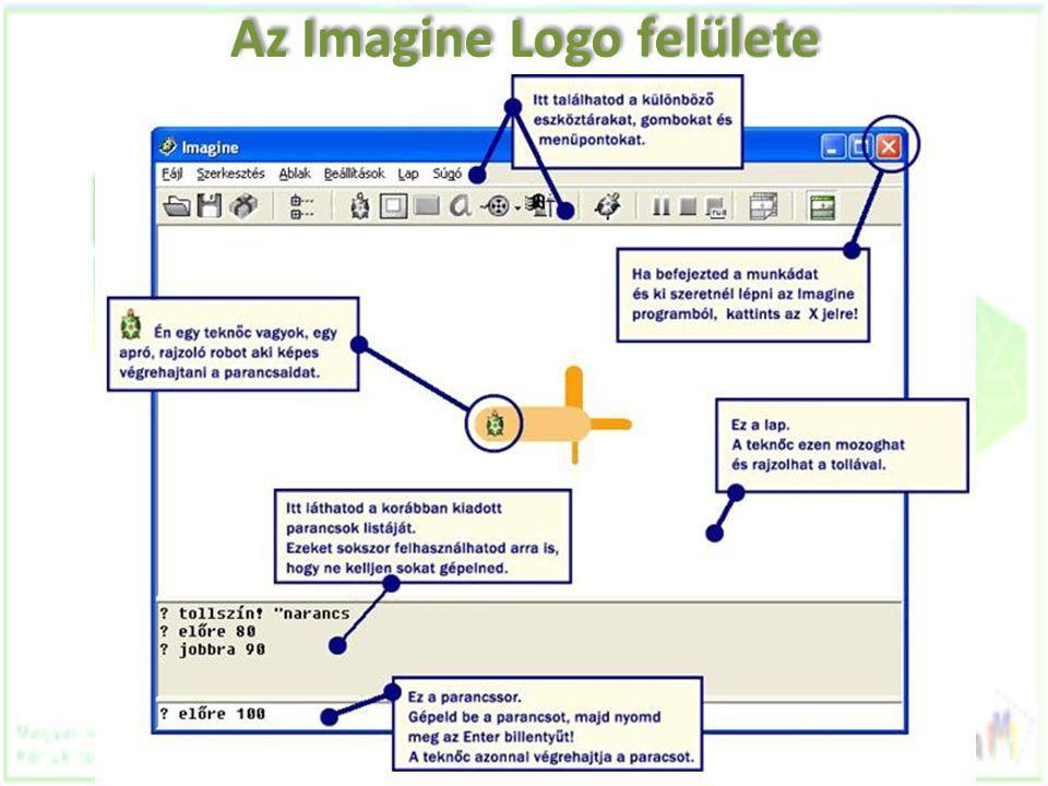Az Imagine Logo felülete