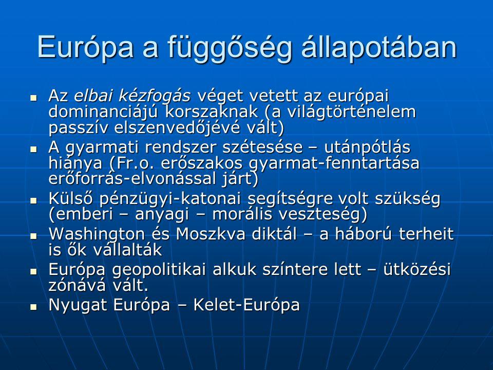Európa a függőség állapotában