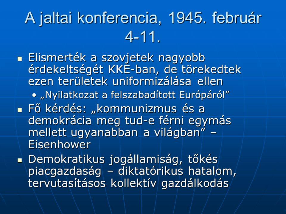 A jaltai konferencia, 1945. február 4-11.