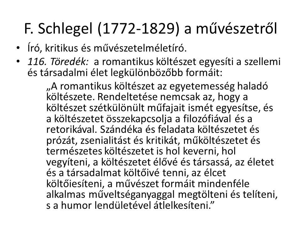 F. Schlegel (1772-1829) a művészetről