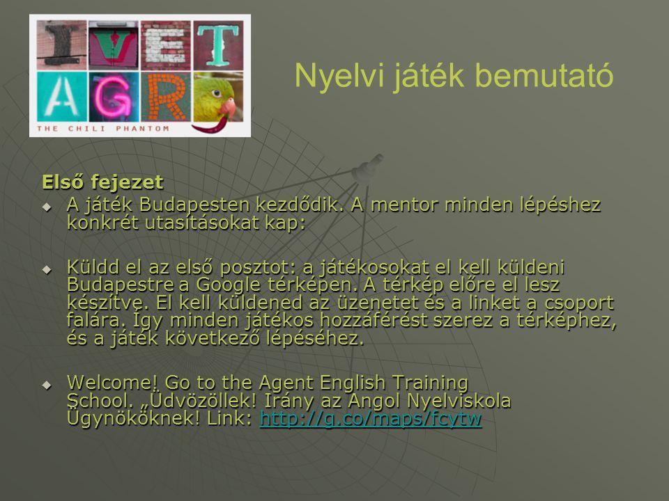 Nyelvi játék bemutató Első fejezet