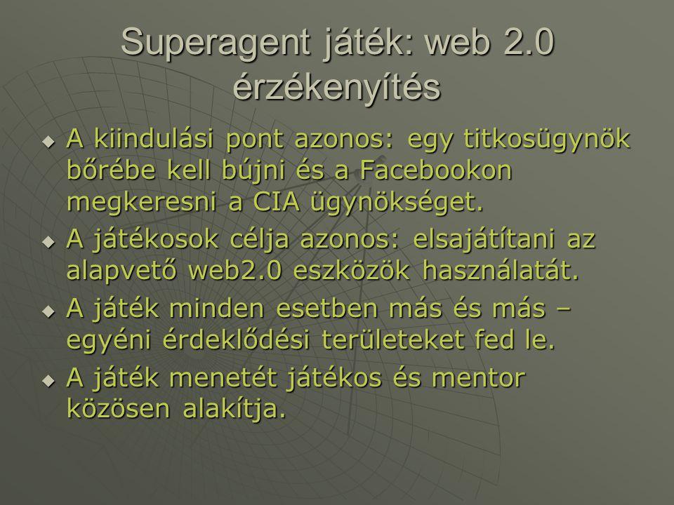 Superagent játék: web 2.0 érzékenyítés