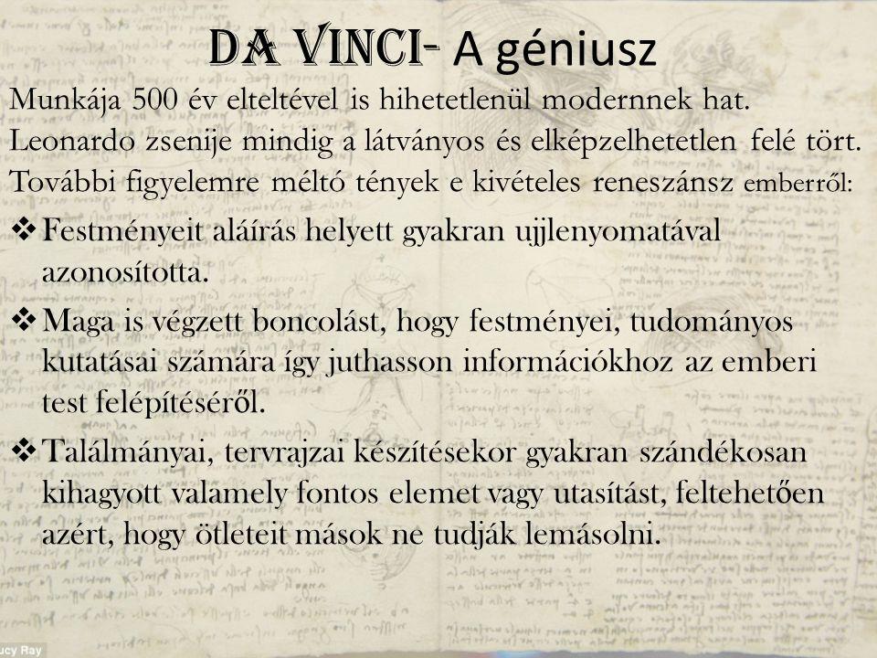 Da Vinci- A géniusz