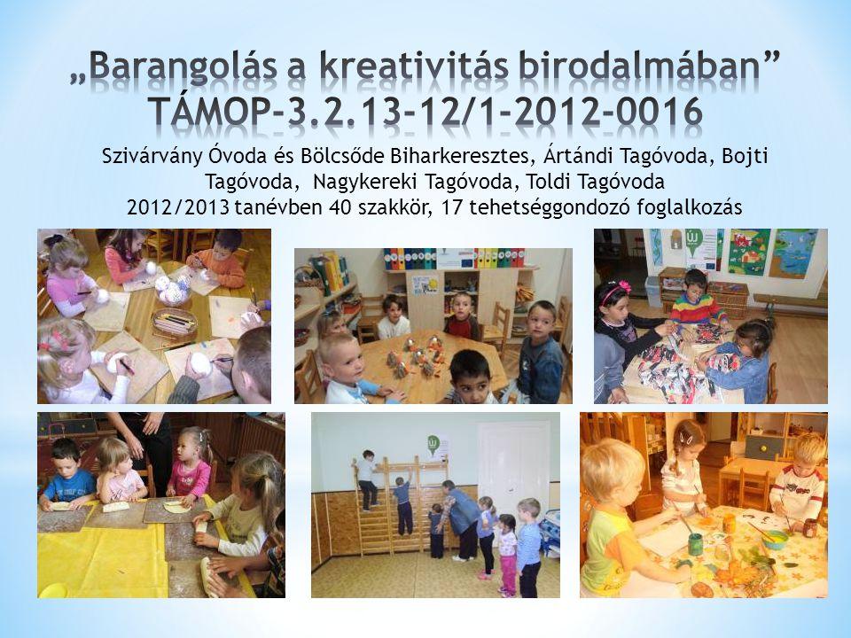 """""""Barangolás a kreativitás birodalmában TÁMOP-3.2.13-12/1-2012-0016"""