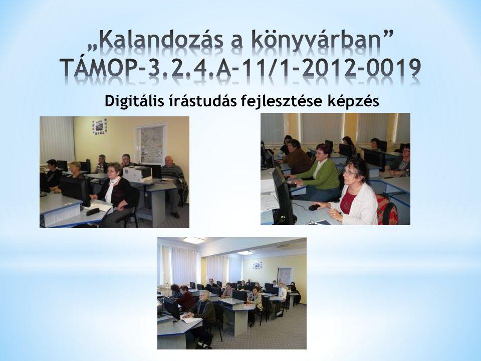 """""""Kalandozás a könyvárban TÁMOP-3.2.4.A-11/1-2012-0019"""