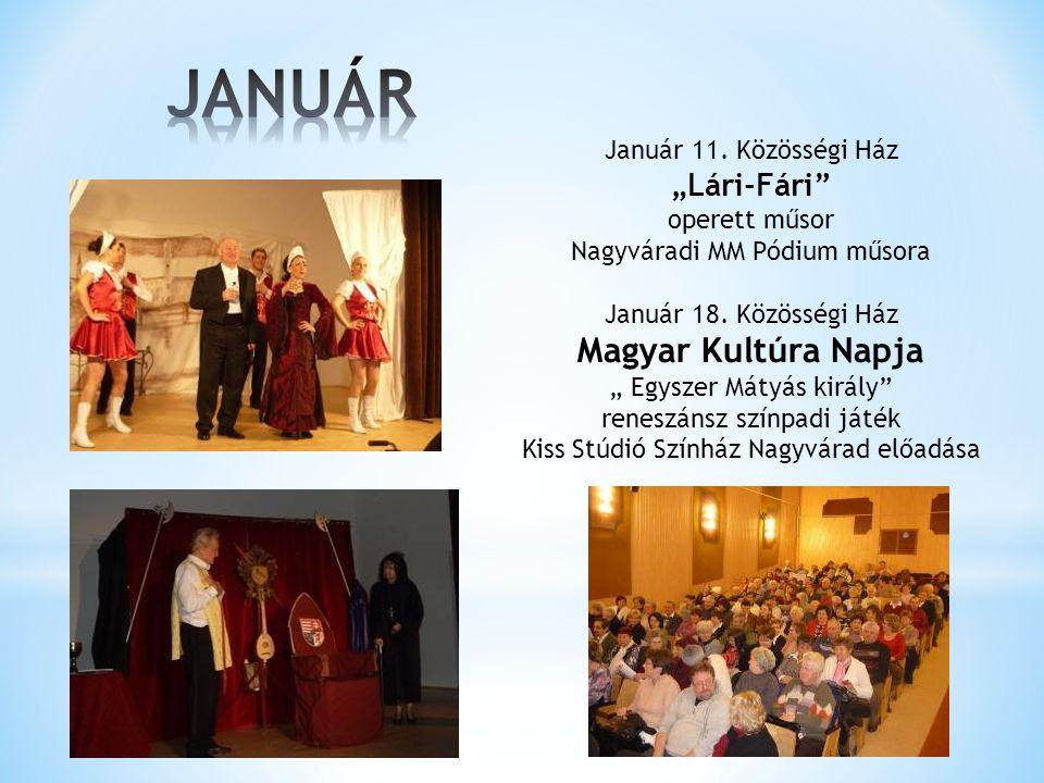 """JANUÁR Magyar Kultúra Napja """"Lári-Fári Január 11. Közösségi Ház"""