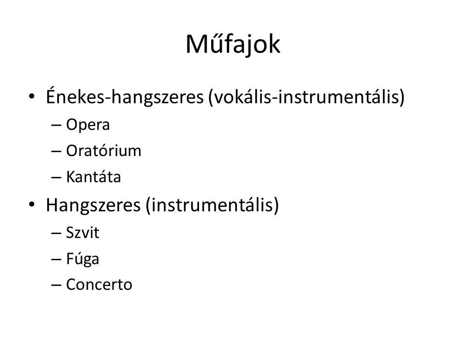 Műfajok Énekes-hangszeres (vokális-instrumentális)