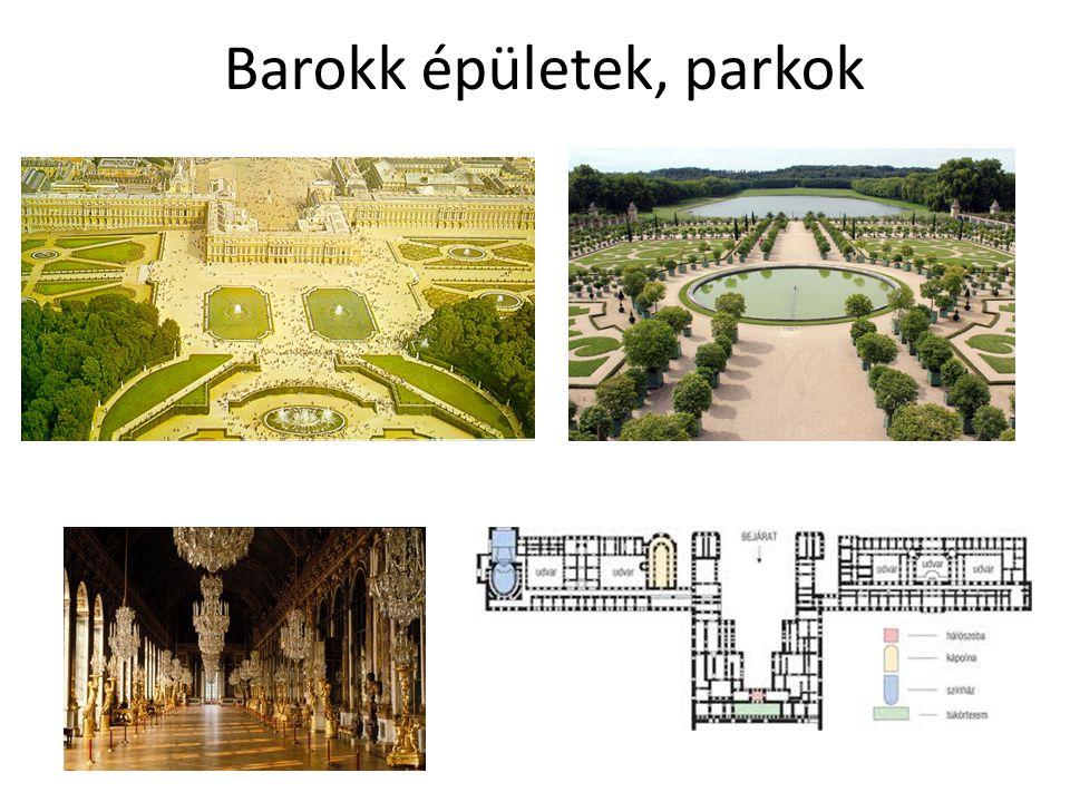 Barokk épületek, parkok