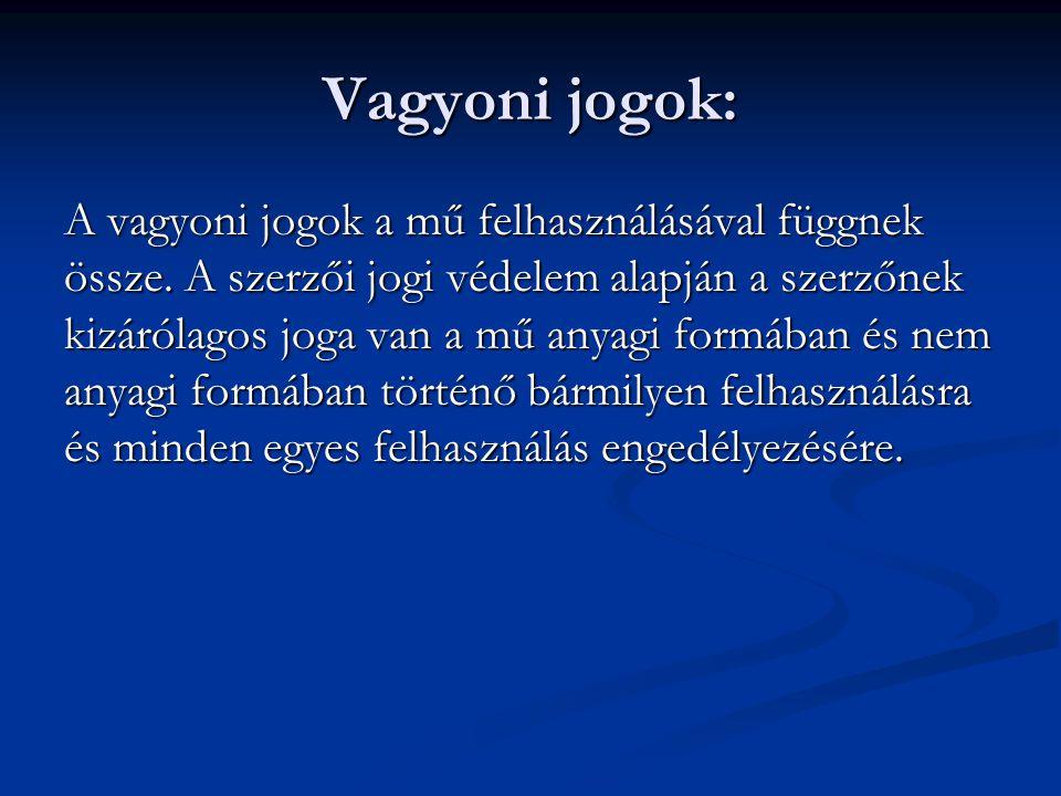 Vagyoni jogok: