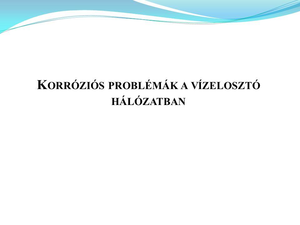 Korróziós problémák a vízelosztó hálózatban