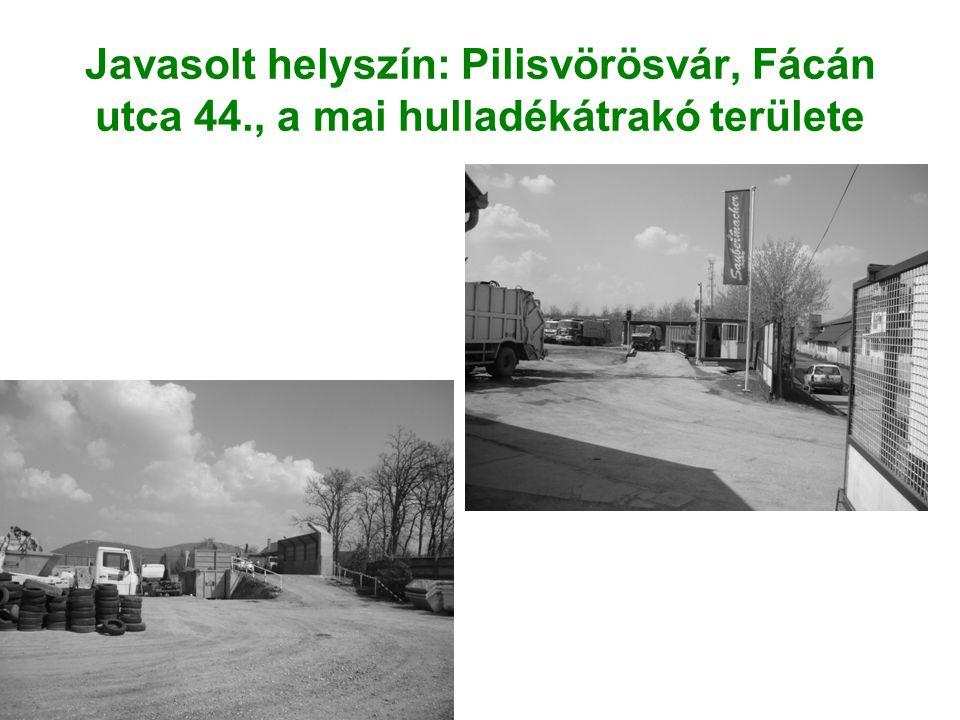 Javasolt helyszín: Pilisvörösvár, Fácán utca 44