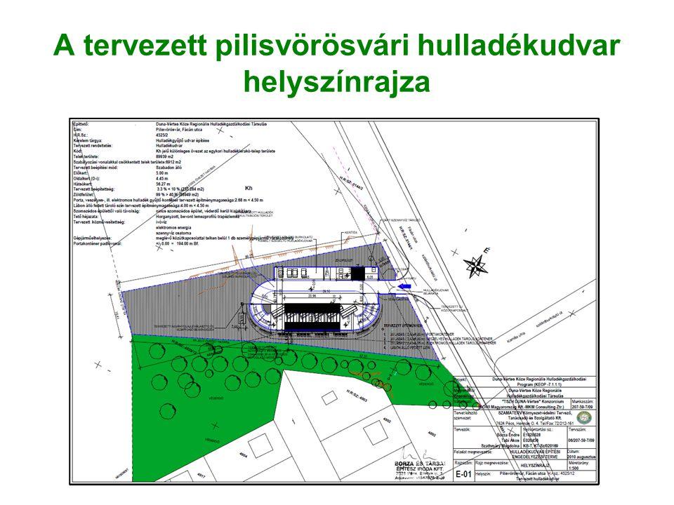 A tervezett pilisvörösvári hulladékudvar helyszínrajza