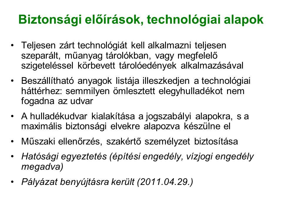 Biztonsági előírások, technológiai alapok