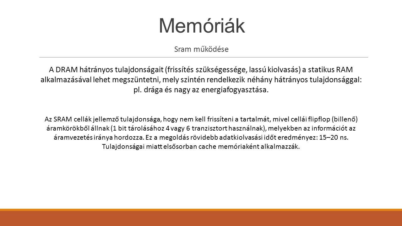 Memóriák Sram működése