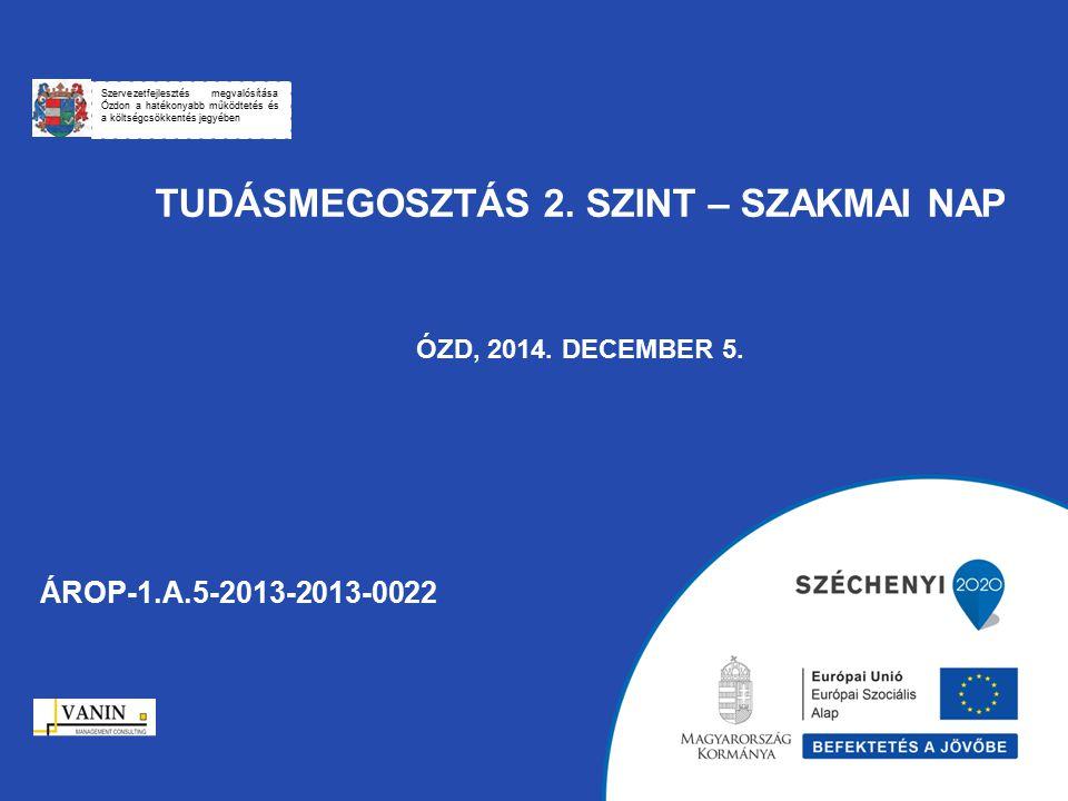 Tudásmegosztás 2. szint – Szakmai Nap ÓZD, 2014. december 5.