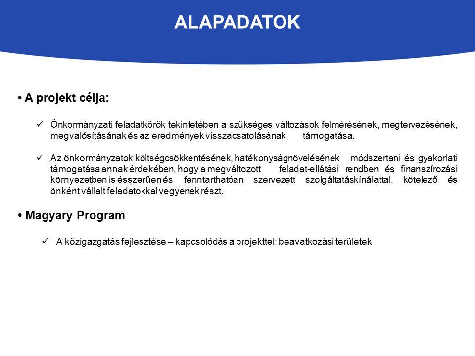 Alapadatok • A projekt célja: • Magyary Program
