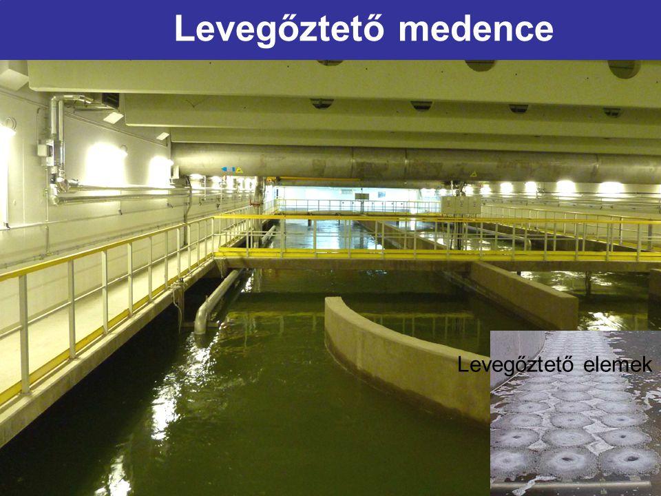Levegőztető medence Levegőztető elemek