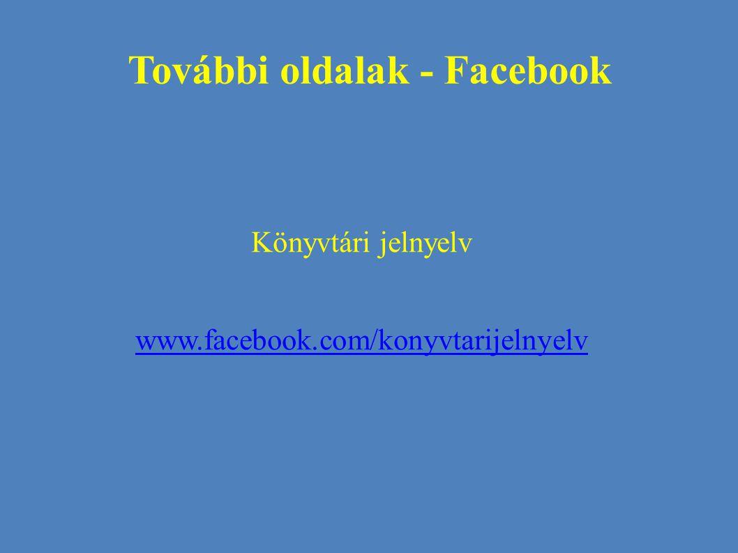 További oldalak - Facebook