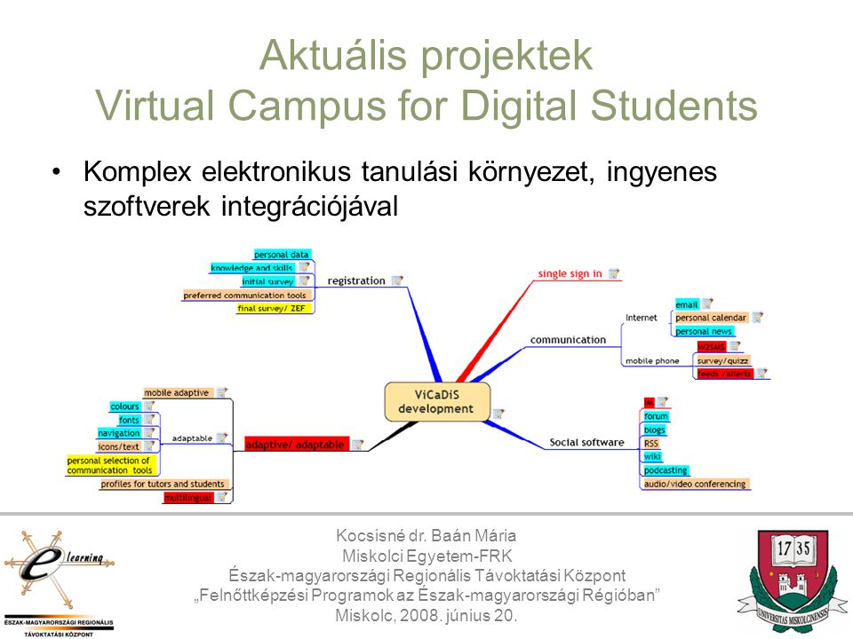 Aktuális projektek Virtual Campus for Digital Students