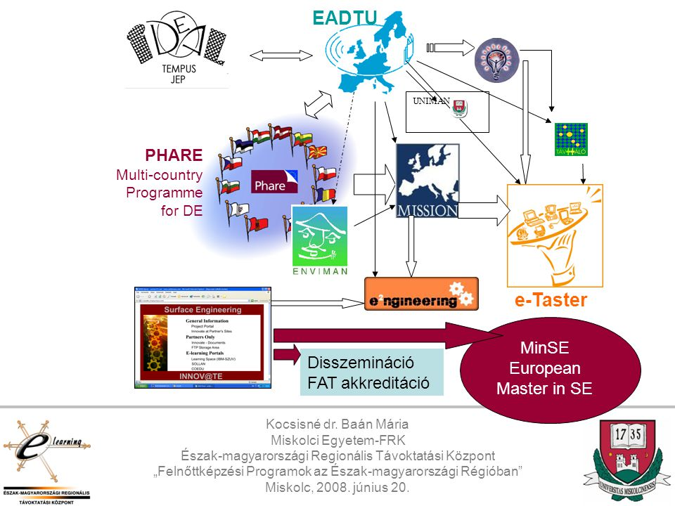 EADTU e-Taster PHARE Multi-country Programme for DE
