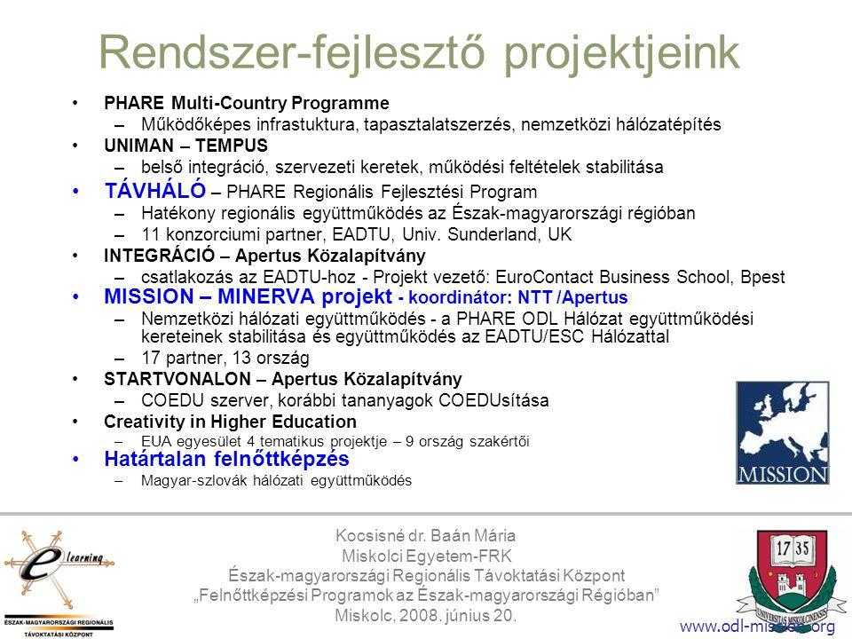 Rendszer-fejlesztő projektjeink