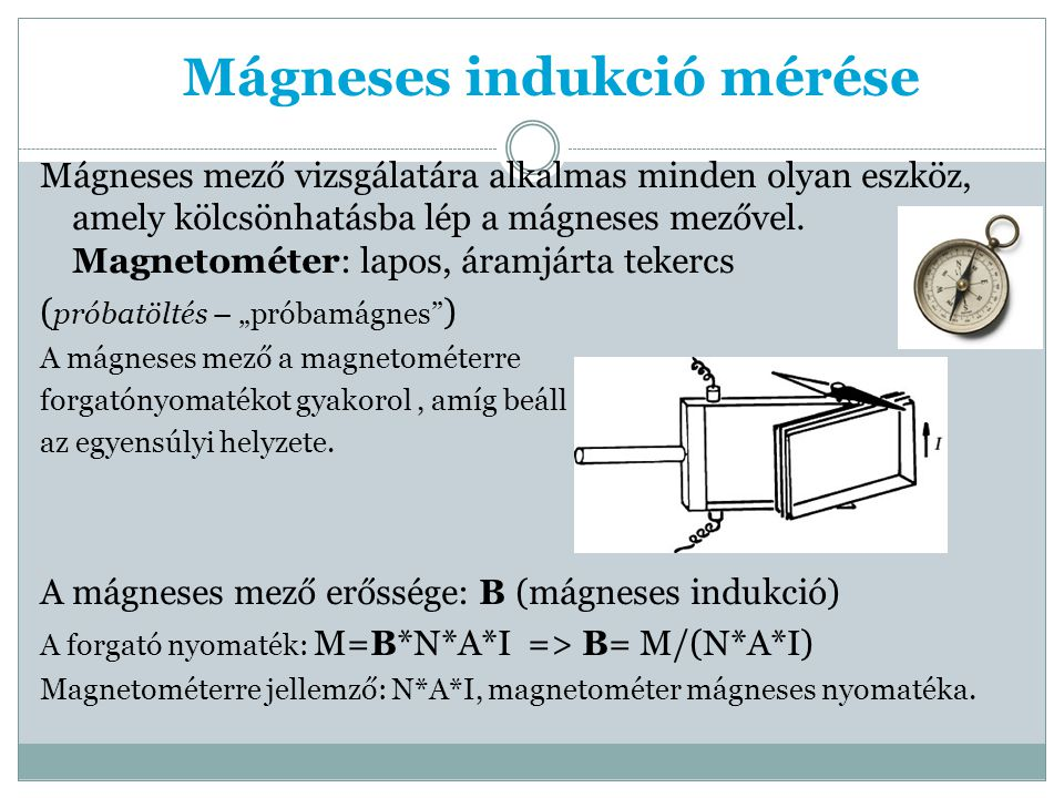 Mágneses indukció mérése