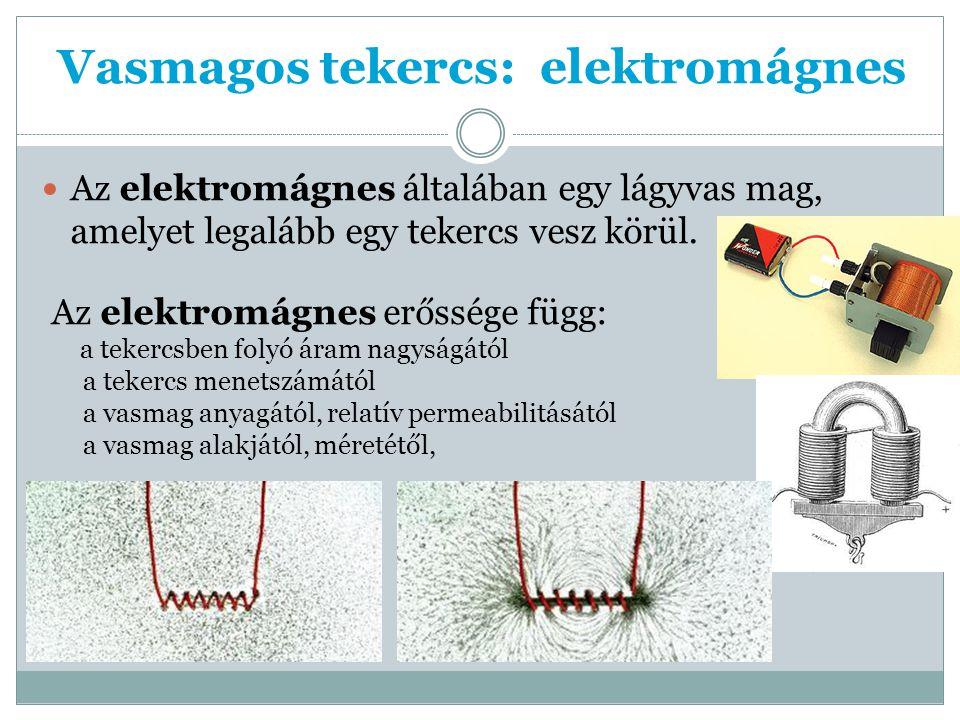 Vasmagos tekercs: elektromágnes