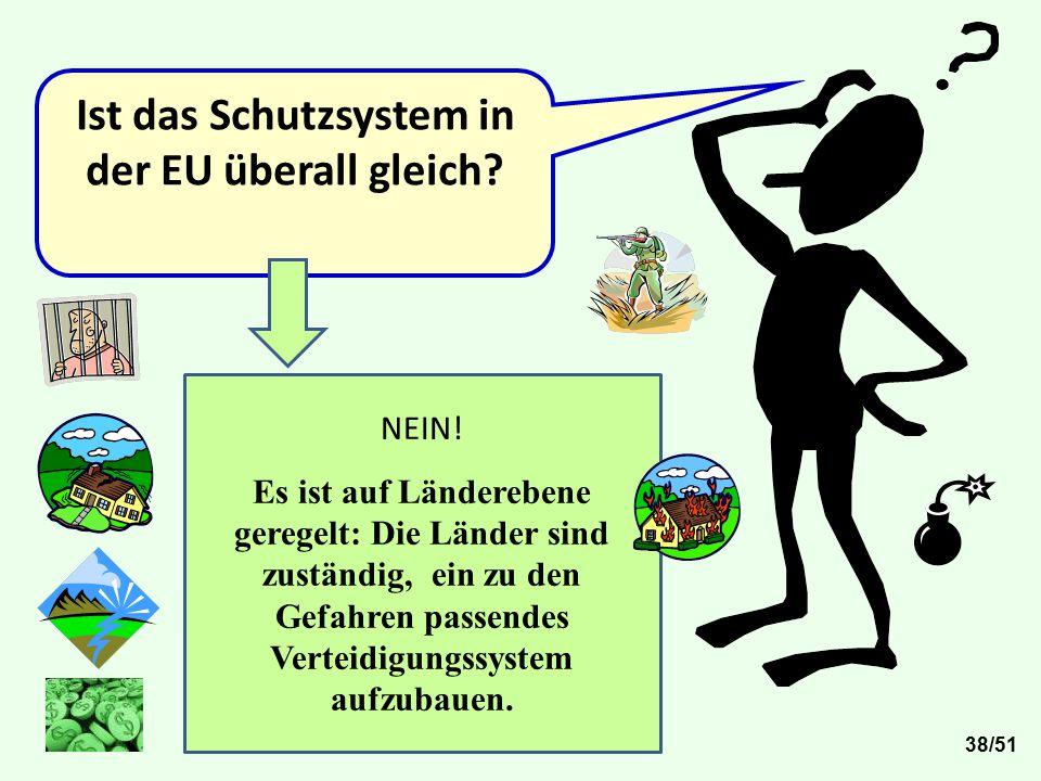 Ist das Schutzsystem in der EU überall gleich