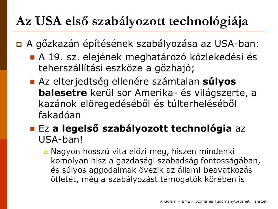 Az USA első szabályozott technológiája
