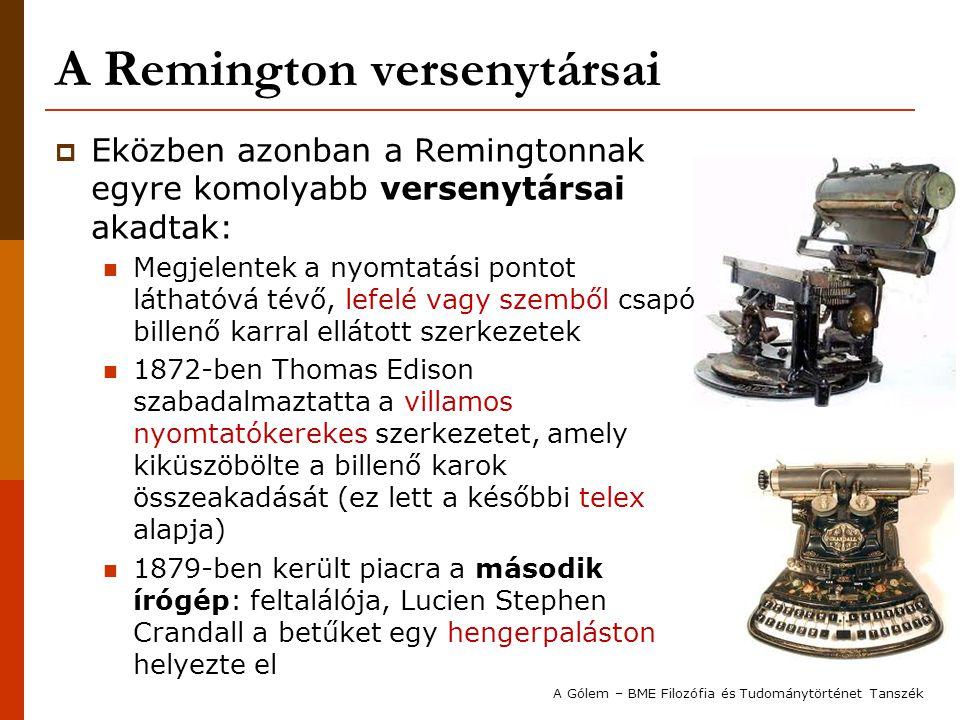 A Remington versenytársai