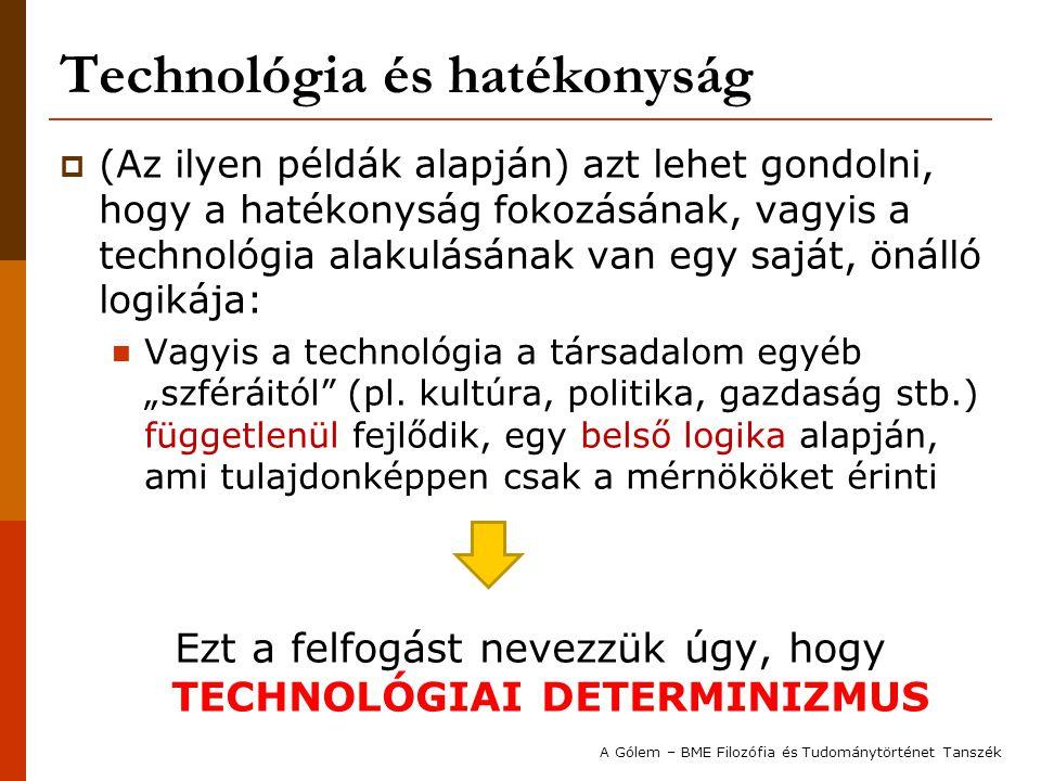 Technológia és hatékonyság