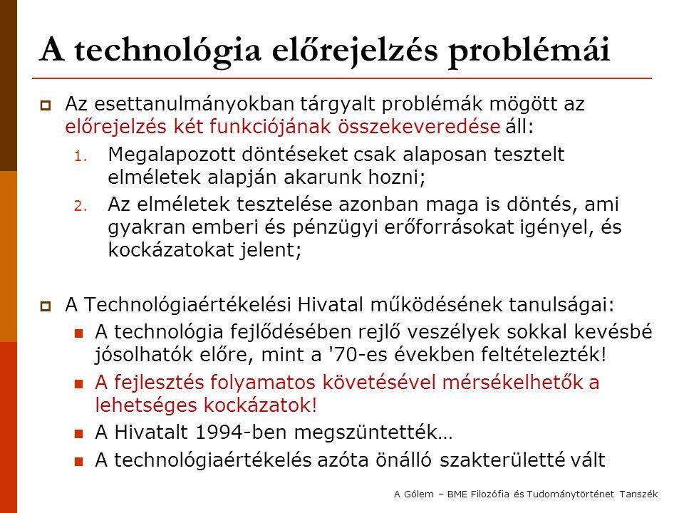 A technológia előrejelzés problémái
