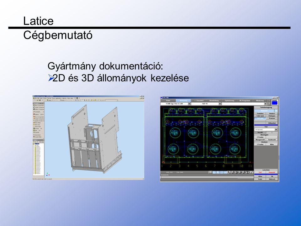Latice Cégbemutató Gyártmány dokumentáció: