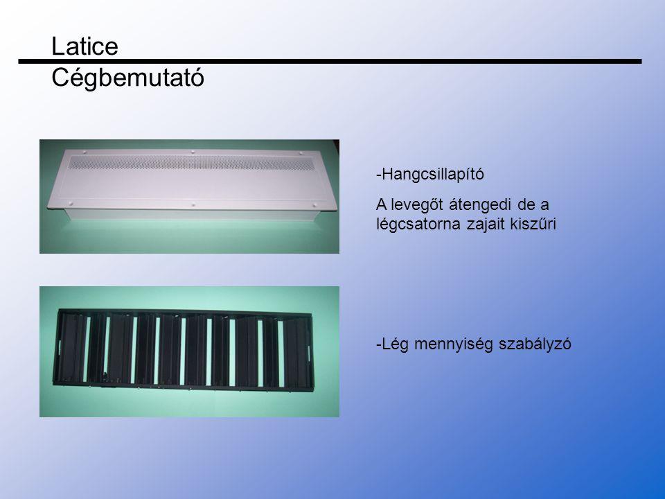 Latice Cégbemutató -Hangcsillapító