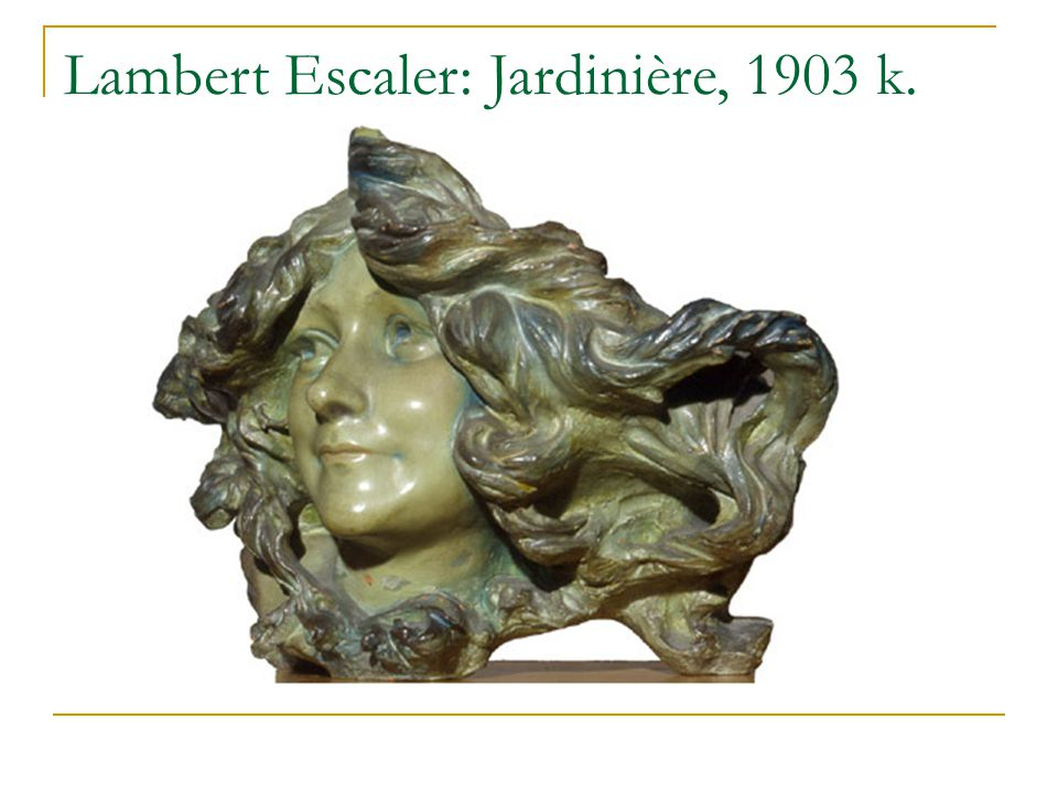 Lambert Escaler: Jardinière, 1903 k.