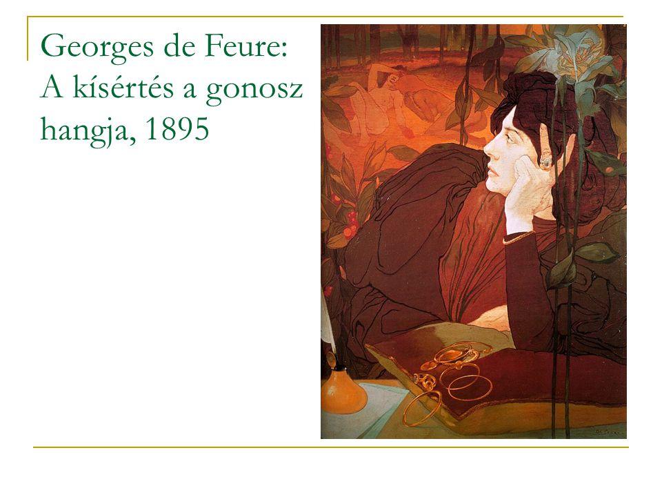Georges de Feure: A kísértés a gonosz hangja, 1895