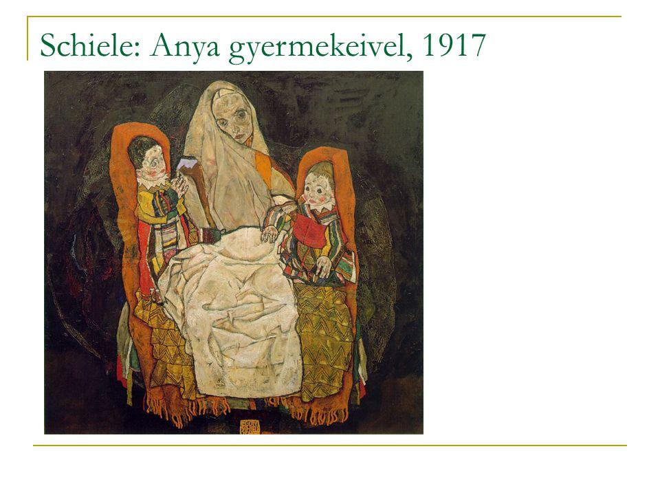 Schiele: Anya gyermekeivel, 1917