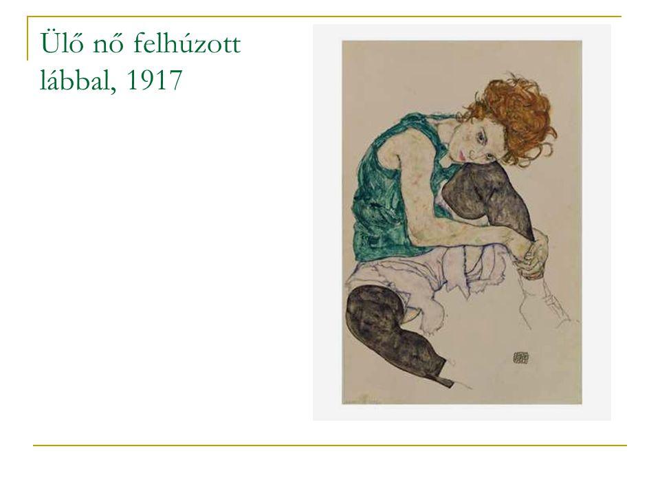 Ülő nő felhúzott lábbal, 1917