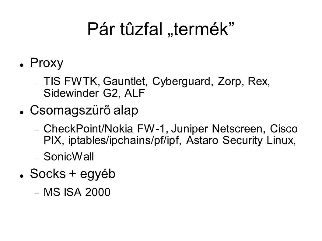 """Pár tûzfal """"termék Proxy Csomagszürõ alap Socks + egyéb"""