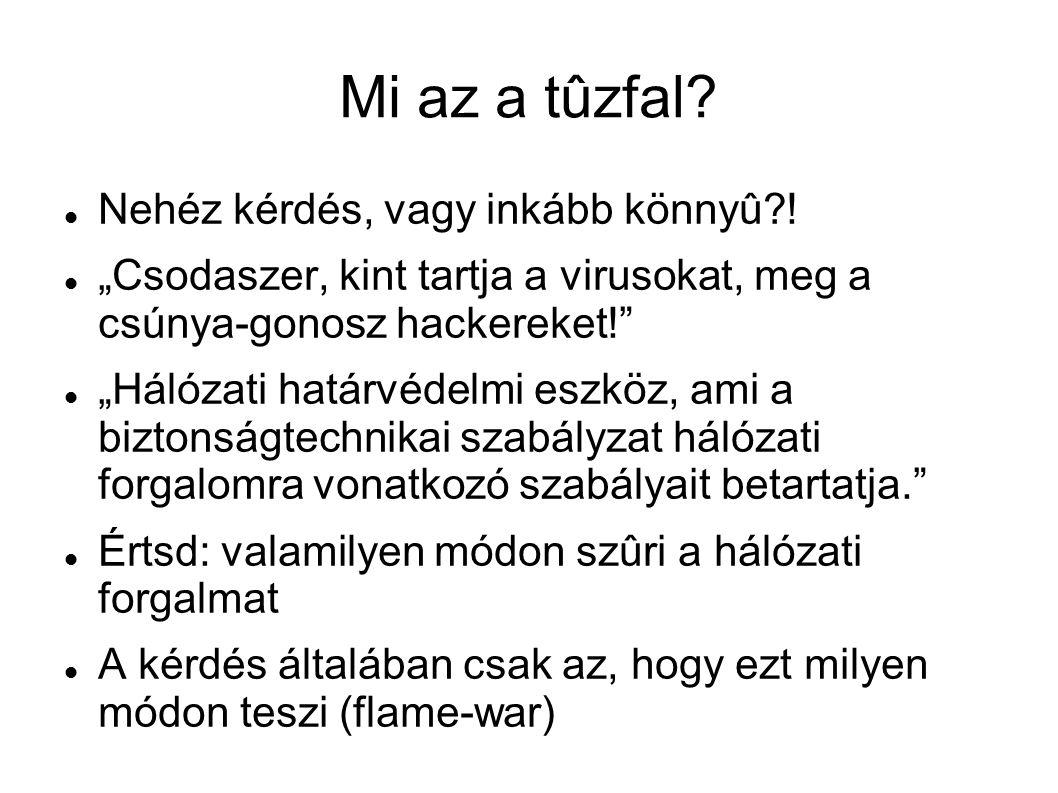 Mi az a tûzfal Nehéz kérdés, vagy inkább könnyû !
